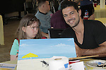Ryan Paevey paints- A Painting Party where actors and children and adults do paintings to be auctioned off at the Night of Stars and on the Marco Island Princess- Actors from Y&R, General Hospital and Days donated their time to Southwest Florida 16th Annual SOAPFEST - a celebrity weekend May 22 thru May 25, 2015 benefitting the Arts for Kids and children with special needs and ITC - Island Theatre Co. on May 23 , 2015 on Marco Island, Florida. (Photos by Sue Coflin/Max Photos)