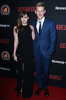 "HOLLYWOOD, LOS ANGELES, CA, USA - MARCH 20: Christa B. Allen, Gabriel Mann at the Los Angeles Premiere Of Pantelion Films And Participant Media's ""Cesar Chavez"" held at TCL Chinese Theatre on March 20, 2014 in Hollywood, Los Angeles, California, United States. (Photo by David Acosta/Celebrity Monitor)"