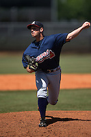 Atlanta Braves pitcher Kyle Kinman (65) during a minor league spring training game against the Houston Astros on March 29, 2015 at the Osceola County Stadium Complex in Kissimmee, Florida.  (Mike Janes/Four Seam Images)