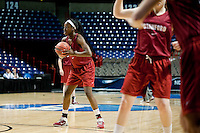 SPOKANE, WA - MARCH 25, 2011: Chiney Ogwumike at the Stanford Women's Basketball, NCAA West Regionals practice at Spokane Arena on March 25, 2011.