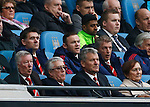 Wayne Rooney of Manchester United watches the game from the directors box during the Barclays Premier League match at The Etihad Stadium. Photo credit should read: Simon Bellis/Sportimage