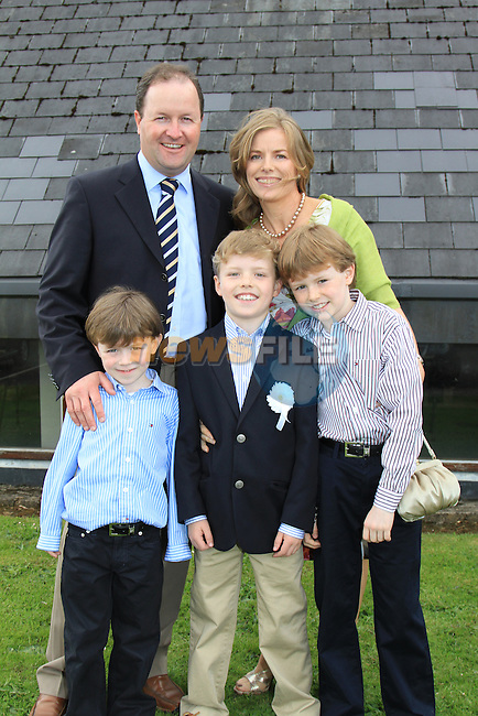 Stephen Breen, Brothers Evan and Matthew and Parents Barry and Evana.First Communion inn Whitecross Church, Julianstown..Picture Fran Caffrey/Newsfile.ie