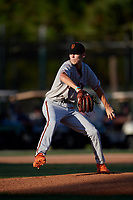 Hunter Patteson during the WWBA World Championship at the Roger Dean Complex on October 18, 2018 in Jupiter, Florida.  Hunter Patteson is a left handed pitcher from Vero Beach, Florida who attends Vero Beach High School and is committed to UCF.  (Mike Janes/Four Seam Images)