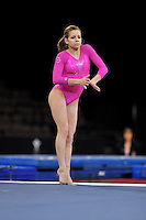 02/20/09 - Photo by John Cheng for USA Gymnastics. American gymnast Mackenzie Caquatto performs on floor exercise in a meet against Japan before the Tyson American Cup at Sears Centre Arena in Chicago.