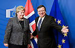 BRUSSELS - BELGIUM - 03 December 2013 -- Erna SOLBERG, Prime Minister of Norway visiting Jose Manuel BARROSO, the President of the EU-Commission. -- Photo: Juha ROININEN / EUP-IMAGES / Prime Ministers Office<br /> Press-release photos only for Norwegian media, provided by the Norwegian Prime Ministers Office. - Handout for media expires 28th February 2014.