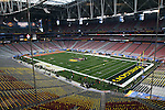 01/10/11-- A view of the field inside of the University of Phoenix Stadium before the BCS National Championship..Photo by Jaime Valdez......
