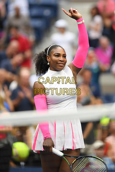 FLUSHING NY- SEPTEMBER 05: Serena Williams reaches 308th Grand Slam win against Vs Yaroslavl Shvedova on Arthur Ashe Stadium at the USTA Billie Jean King National Tennis Center on September 5, 2016 in Flushing Queens. <br /> CAP/MPI04<br /> &copy;MPI04/Capital Pictures