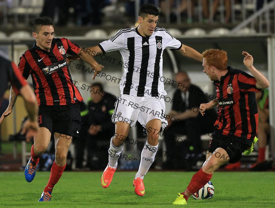 Fudbal Football Soccer<br /> UEFA Champions league-2nd qualifying round<br /> Partizan v HB Torshavn (Faroe Islands)<br /> Petar Grbic (C) <br /> Beograd, 07.15.2014.<br /> foto: Srdjan Stevanovic/Starsportphoto &copy;