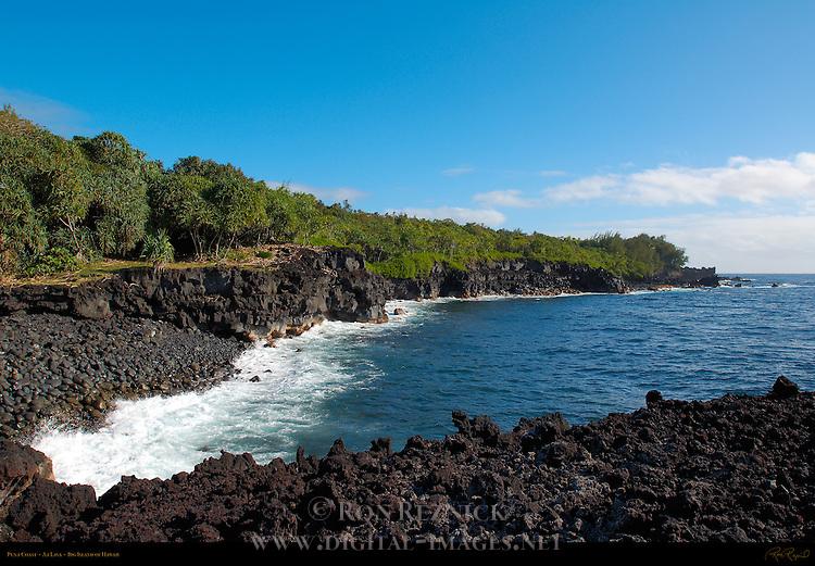Puna Coast, Aa Lava, Big Island of Hawaii