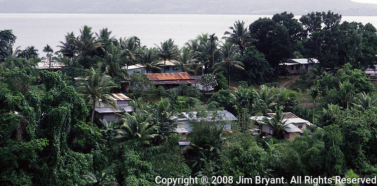 A village on the the island republic of Palau. The small Reupublic has been everything from a Japanese military base to a U.S. Trust territory it now seeks profitable indignity as a plush Pacific resort..The Republic of Belau lies 1,300 kilometers, southwest of Guam, and 600 kilometers east of the Philippines. (Jim Bryant Photo).....