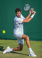 London, England, 4 th July, 2017, Tennis,  Wimbledon, Robin Haase (NED)<br /> Photo: Henk Koster/tennisimages.com