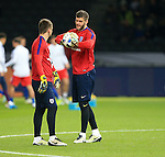 England's Fraser Forster warms up during the International Friendly match at Olympiastadion.  Photo credit should read: David Klein/Sportimage