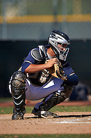 San Diego Padres Jose Ruiz (15) during an instructional league game against the Texas Rangers on October 9, 2015 at the Surprise Stadium Training Complex in Surprise, Arizona.  (Mike Janes/Four Seam Images)