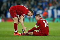 James Milner of Liverpool checks on Jordan Henderson of Liverpool during the UEFA Champions League Quarter Final first leg match between Liverpool and Porto at Anfield on April 9th 2019 in Liverpool, England. (Photo by Daniel Chesterton/phcimages.com)<br /> Foto PHC/Insidefoto <br /> ITALY ONLY