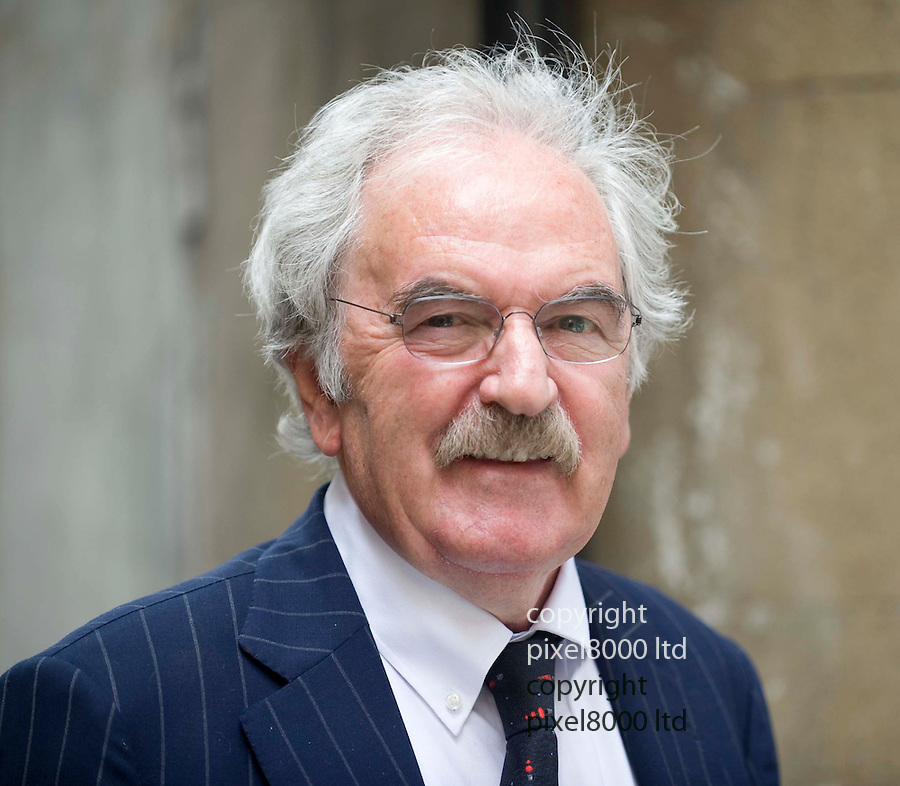 Harry Carpenter Memorial Service at St Bride's Church off Fleet Street..Legends of TV commentary were there along with boxing greats...Pic shows: Des Lynam..Picture by Gavin Rodgers/ Pixel 07917221968