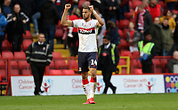 Rudy Gestede of Middlesbrough celebrates the final whistle during Charlton Athletic vs Middlesbrough, Sky Bet EFL Championship Football at The Valley on 7th March 2020