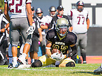 Palos Verdes, CA 09/16/16 - Tyler Hazard (Peninsula #22) in action during the Torrance - Palos Verdes Peninsula CIF Varsity football game.