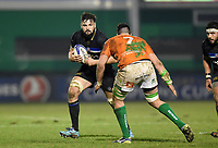 Elliott Stooke of Bath Rugby in possession. European Rugby Champions Cup match, between Benetton Rugby and Bath Rugby on January 20, 2018 at the Municipal Stadium of Monigo in Treviso, Italy. Photo by: Patrick Khachfe / Onside Images