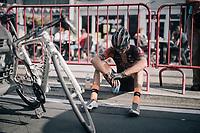 after finishing<br /> <br /> 92nd Schaal Sels 2017 <br /> 1 Day Race: Merksem &gt; Merksem (188km)