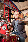 PINK FLOYD - drummer Nick Mason - Photosession in his office in London UK -  05 October 2011.  Photo credit: Tina Korhonen/IconicPix