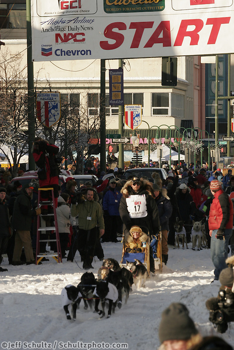 2007 Iditarod Ceremonial Start Anchorage Alaska