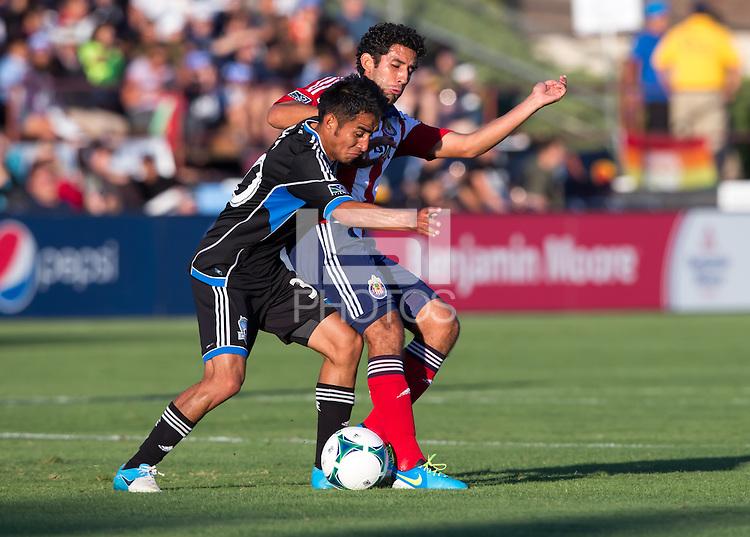 Santa Clara, California - Saturday, August 3, 2013: San Jose Earthquakes defeated Chivas USA 2-0 at Buck Shaw Stadium during a MLS game.