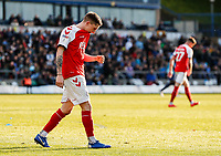 Fleetwood Town's Ashley Hunter rues a near miss <br /> <br /> Photographer Andrew Kearns/CameraSport<br /> <br /> The EFL Sky Bet League One - Wycombe Wanderers v Fleetwood Town - Saturday 4th May 2019 - Adams Park - Wycombe<br /> <br /> World Copyright © 2019 CameraSport. All rights reserved. 43 Linden Ave. Countesthorpe. Leicester. England. LE8 5PG - Tel: +44 (0) 116 277 4147 - admin@camerasport.com - www.camerasport.com
