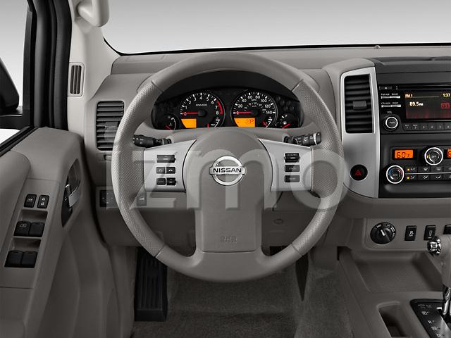 Steering wheel view of a 2013 Nissan Frontier Crew Cab SV 4wd2013 Nissan Frontier Crew Cab SV 4wd