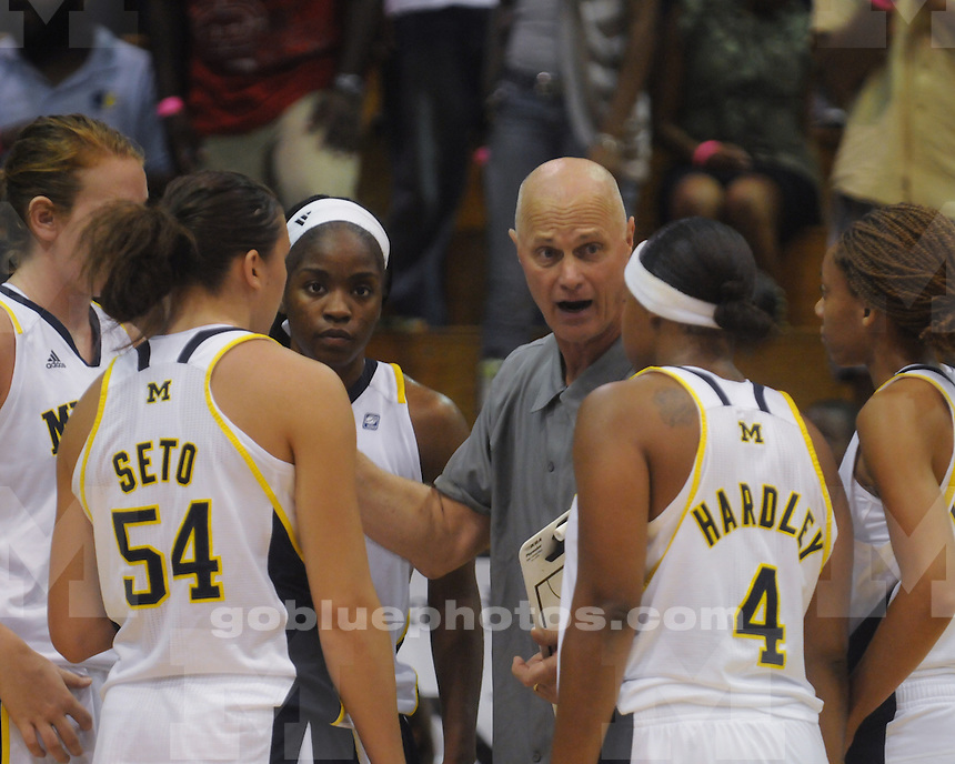 The University of Michigan women's basketball team beat Marquette 71-51 to take the title at the 2011 Paradise Jam in Saint Thomas, US Virgin Islands, on November 26, 2011.