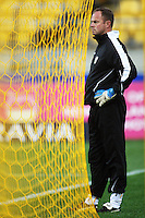 Phoenix assistant coach Jonathan Gould during the A-League football match between Wellington Phoenix and Perth Glory at Westpac Stadium, Wellington, New Zealand on Sunday, 16 August 2009. Photo: Dave Lintott / lintottphoto.co.nz