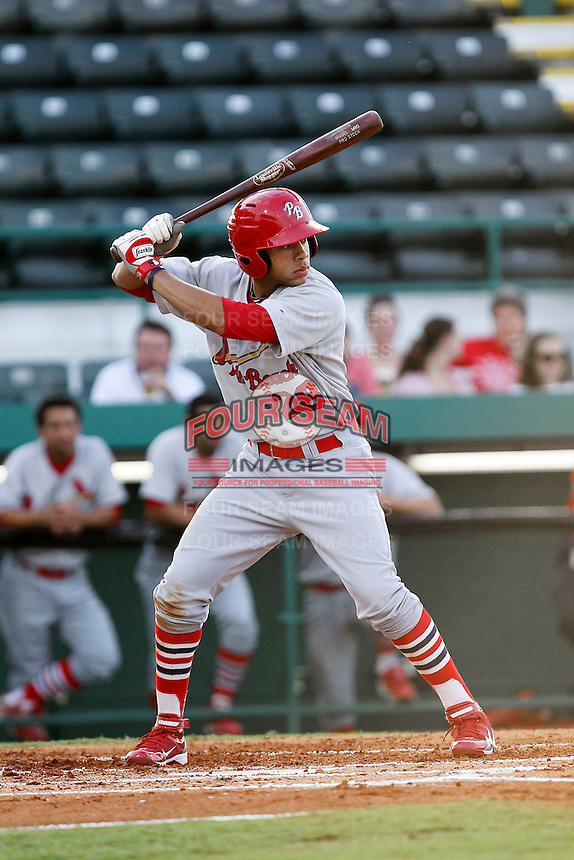 April 29, 2010 Outfielder Thomas Pham of the Palm Beach Cardinals, Florida State League Class-A affiliate of the St.Louis Cardinals, during a game at McKenhnie Field in Bradenton Fl. Photo by: Mark LoMoglio/Four Seam Images