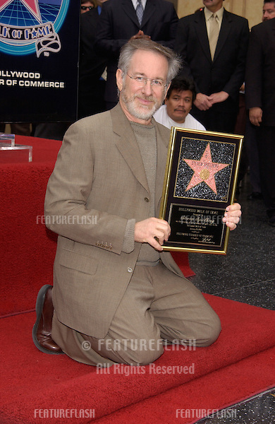 Director STEVEN SPIELBERG at Hollywood Walk of Fame ceremony where he was honored with a star on Hollywood Boulevard..10JAN2003  © Paul Smith / Featureflash