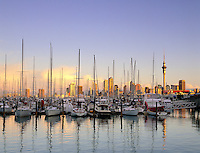 New Zealand, North Island, Auckland: City View and Westhaven Marina | Neuseeland, Nordinsel, Auckland: Westhaven Marina