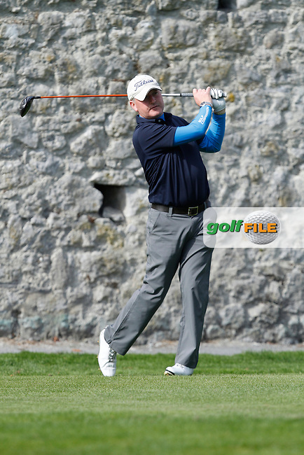 Kevin Foy (Stepaside) on the 16th tee during Round 1 of the 104th Irish PGA Championship at Adare Manor Golf Club on Thursday 2nd October 2014.<br /> Picture:  Thos Caffrey / www.golffile.ie