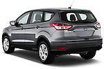 Rear three quarter view of a 2013 Ford Escape S