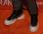 Jonno Davies, shoe detail, attends the Opening Night After Party for 'A Clockwork Orange'  at the New World Stages on September 25, 2017 in New York City.
