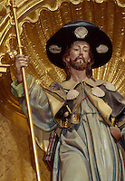 Spanien, Kastilien-Léon, Der Heilige Jakob in Stiftskirche Virgen del Manzano am Jakobsweg