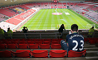 A Swansea supporter with a Gylfi Sigurdsson top prior to the Premier League match between Sunderland and Swansea City at the Stadium of Light, Sunderland, England, UK. Saturday 13 May 2017