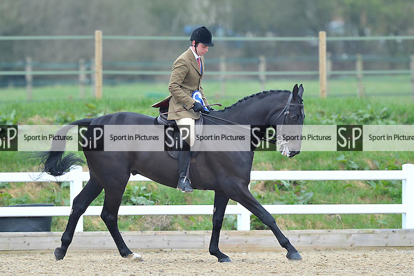 Second placed Lowmoore Show ridden by Christopher Sage. Class 2. Lightweight Hunter. RIHS Qualifiers.  Brook Farm Training Centre. Essex. 05/04/2015. MANDATORY Credit Peter Reynolds/Sportinpictures - NO UNAUTHORISED USE - 07837 394578
