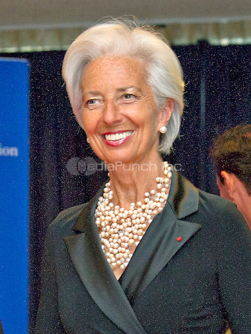 Christine Lagarde,  Managing Director, International Monetary Fund (IMF) arrives for the 2016 White House Correspondents Association Annual Dinner at the Washington Hilton Hotel on Saturday, April 30, 2016.<br /> Credit: Ron Sachs / CNP<br /> (RESTRICTION: NO New York or New Jersey Newspapers or newspapers within a 75 mile radius of New York City)/MediaPunch