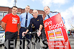 Pictured at the launch of the Garda Blood for Life Cycle going from Malin to Mizen which takes place from the 27th to 30th April (660km) to raise awareness of the blood donors, l-r: Dave Callaghan (Tralee) Shane Power (Tralee) Steven Roe (Cork) and  Mark O'Connor (Ballyduff)..