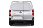Straight rear view of 2015 Peugeot Partner - 4 Door Car Van Rear View  stock images
