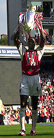 Photo. © Peter Spurrier/Intersport Images.15/05/2004  - 2003/04 Premiership Football - Arsenal v Leicester City:.Patrick Viera. hold's the tophy aloft.[Credit] Peter Spurrier Intersport Images