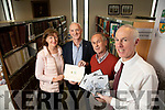 Pictured on Wednesday last at the presentation of recordings of the Senior Citizens of Ardfert, as put together by the Ardfert Historical Society which was presented to Kerry County Library, l-r: Anne Kearney James O'Loughlin, Mike Lynch (Archivist) and Tommy O'Connor (County Librarian).