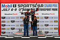 IMSA WeatherTech SportsCar Championship<br /> Mobil 1 SportsCar Grand Prix<br /> Canadian Tire Motorsport Park<br /> Bowmanville, ON CAN<br /> Sunday 9 July 2017<br /> 31, Cadillac DPi, P, Dane Cameron, Eric Curran, celebrates, win, winners, victory lane, podium<br /> World Copyright: Scott R LePage/LAT Images