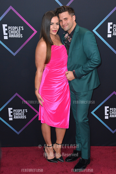 LOS ANGELES, CA. November 11, 2018: Tom Sandoval &amp; Katie Maloney at the E! People's Choice Awards 2018 at Barker Hangar, Santa Monica Airport.<br /> Picture: Paul Smith/Featureflash