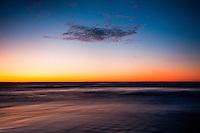 Sunset over Tasman Sea in Punakaiki - Paparoa National Park, West Coast, New Zealand
