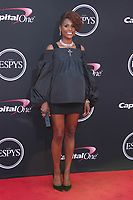 LOS ANGELES, CA - JULY 12: Issa Rae at The 25th ESPYS at the Microsoft Theatre in Los Angeles, California on July 12, 2017. Credit: Faye Sadou/MediaPunch