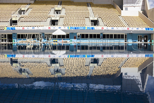 12.02.2016. Rio de Janeiro, Brazil.  Rio 2016 Olympic venues: Maria Lenk Aquatic Center Rio de Janeiro, Brazil facility that will be used during the Olympic Games 2016, ready for use. This  location will hold the Olympic competitions of diving and synchronized swimming