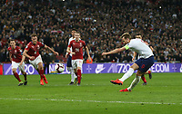 England's Harry Kane scores his side's second goal from the penalty spot<br /> <br /> Photographer Rob Newell/CameraSport<br /> <br /> UEFA Euro 2020 Qualifying round - Group A - England v Czech Republic - Friday 22nd March 2019 - Wembley Stadium - London<br /> <br /> World Copyright © 2019 CameraSport. All rights reserved. 43 Linden Ave. Countesthorpe. Leicester. England. LE8 5PG - Tel: +44 (0) 116 277 4147 - admin@camerasport.com - www.camerasport.com